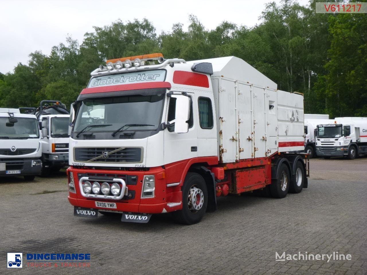 camion de vidange VOLVO FM 9 6X4 RHD Eurovac 1200 vacuum tank (tipping)